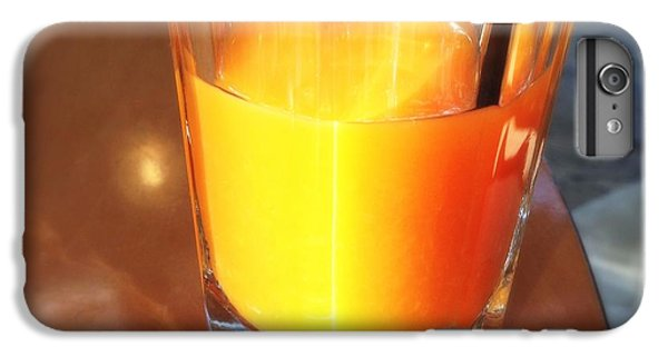 Bright iPhone 6 Plus Case - Glass With Orange Fruit Juice by Matthias Hauser