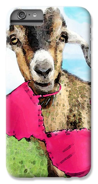 Goat Art - Oh You're Home IPhone 6 Plus Case by Sharon Cummings