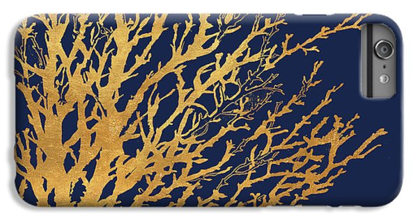 Gold Medley On Navy IPhone 6 Plus Case by Lanie Loreth