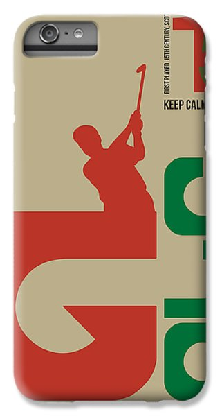 Golf Poster IPhone 6 Plus Case by Naxart Studio