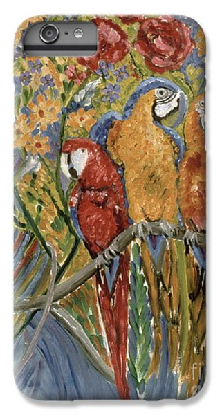 Macaw iPhone 6 Plus Case - Good Gossip by Patricia Eyre