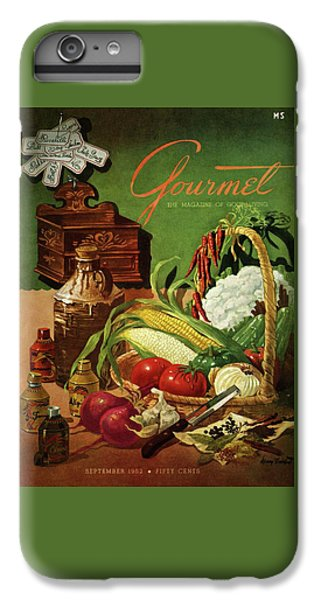 Gourmet Cover Featuring A Variety Of Vegetables IPhone 6 Plus Case by Henry Stahlhut