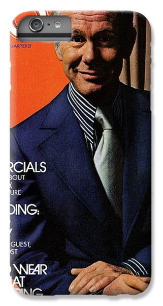 Gq Cover Of Johnny Carson Wearing Suit IPhone 6 Plus Case by Bruce Bacon