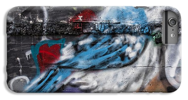 Bluejay iPhone 6 Plus Case - Graffiti Bluejay by Carol Leigh