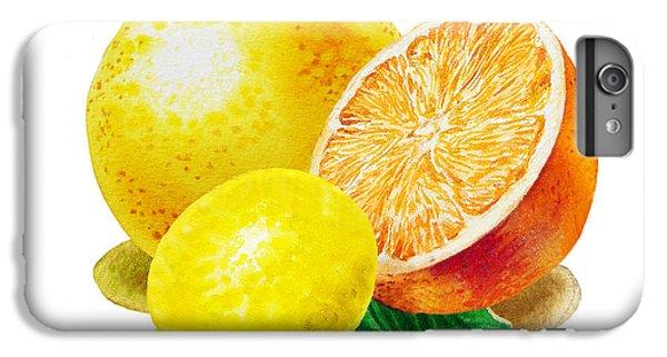 Grapefruit Lemon Orange IPhone 6 Plus Case by Irina Sztukowski
