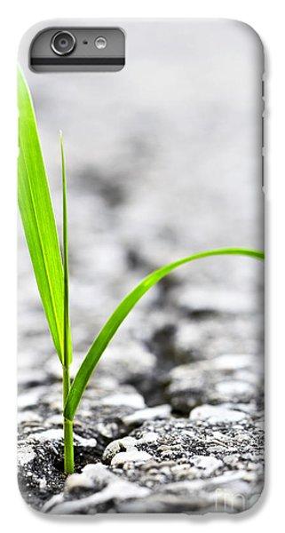 Garden iPhone 6 Plus Case - Grass In Asphalt by Elena Elisseeva