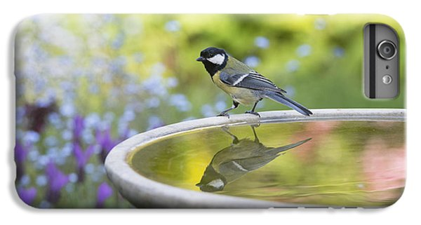 Titmouse iPhone 6 Plus Case - Great Tit Reflection  by Tim Gainey
