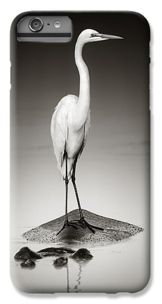 Egret iPhone 6 Plus Case - Great White Egret On Hippo by Johan Swanepoel