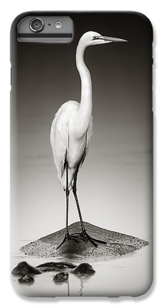 Great White Egret On Hippo IPhone 6 Plus Case by Johan Swanepoel