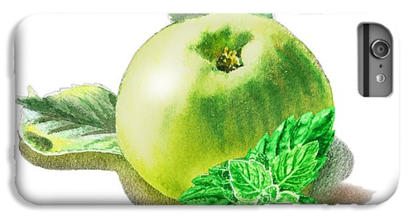 IPhone 6 Plus Case featuring the painting Green Apple And Mint Happy Union by Irina Sztukowski