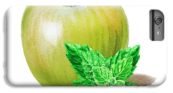 IPhone 6 Plus Case featuring the painting Green Apple And Mint by Irina Sztukowski