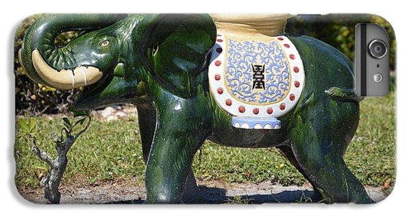 Decorative iPhone 6 Plus Case - Green Elephant  by Doug Grey