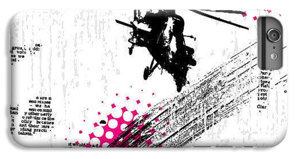Helicopter iPhone 6 Plus Case - Grunge Vector Background Illustration by Elanur Us