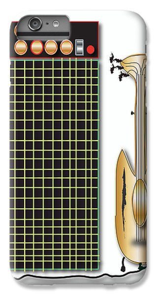 IPhone 6 Plus Case featuring the digital art Guitar And Amp by Marvin Blaine