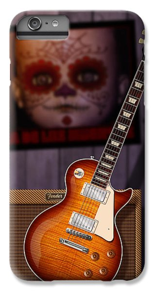 Rock Music Jimmy Page iPhone 6 Plus Case - Guitar Scene by WB Johnston