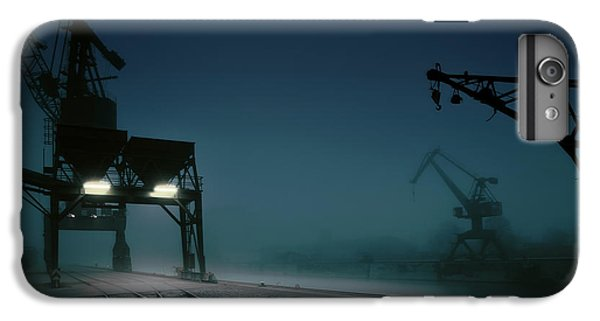Crane iPhone 6 Plus Case - Habour At Night by Hans Bauer