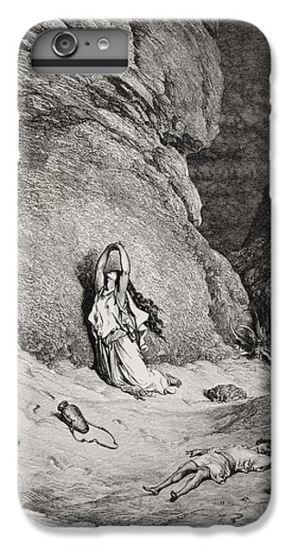 Barren iPhone 6 Plus Case - Hagar And Ishmael In The Desert by Gustave Dore