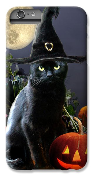 Witchy Black Halloween Cat IPhone 6 Plus Case