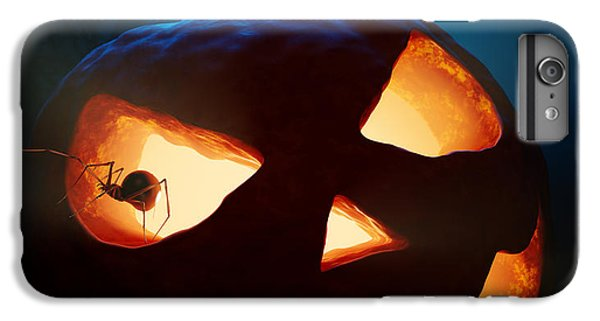 Halloween Pumpkin And Spiders IPhone 6 Plus Case by Johan Swanepoel
