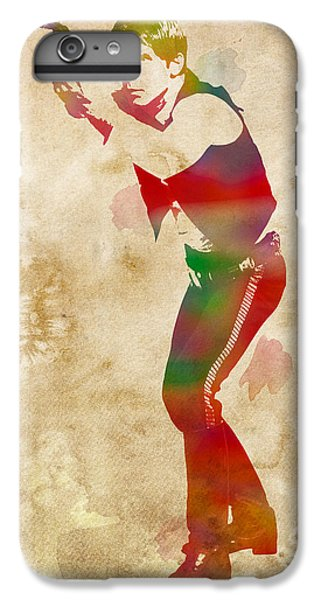 Han Solo iPhone 6 Plus Case - Han Solo Star Wars Watercolor Portrait On Worn Distressed Canvas by Design Turnpike