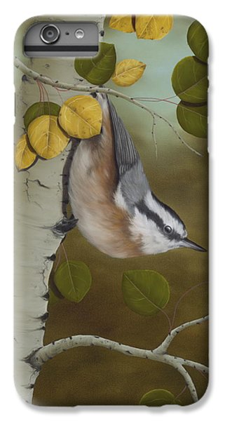 Wildlife iPhone 6 Plus Case - Hanging Around-red Breasted Nuthatch by Rick Bainbridge