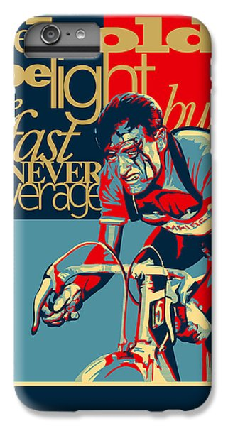 Fairy iPhone 6 Plus Case - Hard As Nails Vintage Cycling Poster by Sassan Filsoof