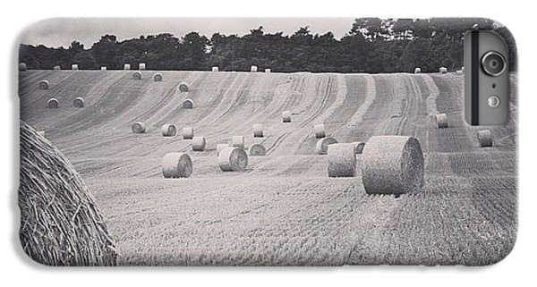 Summer iPhone 6 Plus Case - #haybales #summer #france by Georgia Fowler