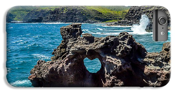 Pacific Ocean iPhone 6 Plus Case - Heart In The Rock by LiveforBlu Gallery