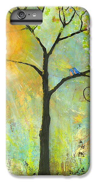Hello Sunshine Tree Birds Sun Art Print IPhone 6 Plus Case
