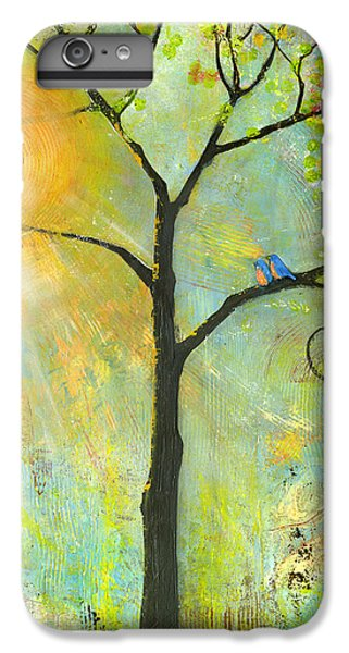 Hello Sunshine Tree Birds Sun Art Print IPhone 6 Plus Case by Blenda Studio