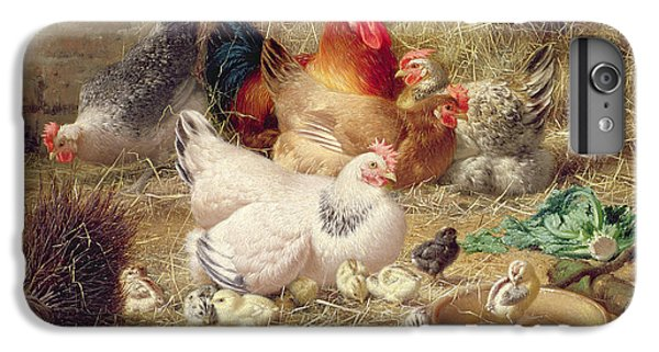 Hens Roosting With Their Chickens IPhone 6 Plus Case by Eugene Remy Maes