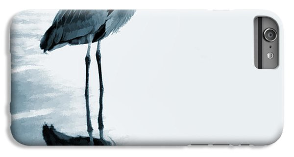 Heron In The Shallows IPhone 6 Plus Case by Carol Leigh