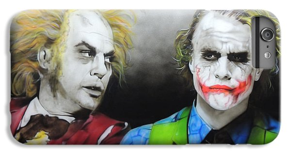 Health Ledger - ' Hey Why So Serious? ' IPhone 6 Plus Case by Christian Chapman Art