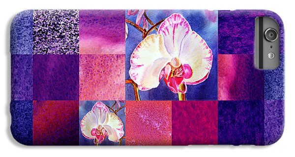 Hidden Orchids Squared Abstract Design IPhone 6 Plus Case by Irina Sztukowski