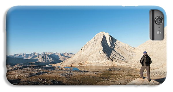 Knit Hat iPhone 6 Plus Case - Hiker Looking Over Royce Lakes by Josh Miller Photography