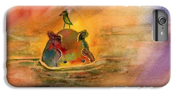 Hippo Birdie IPhone 6 Plus Case by Amy Kirkpatrick