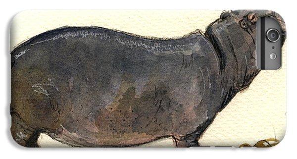 Hippo Happy IPhone 6 Plus Case by Juan  Bosco