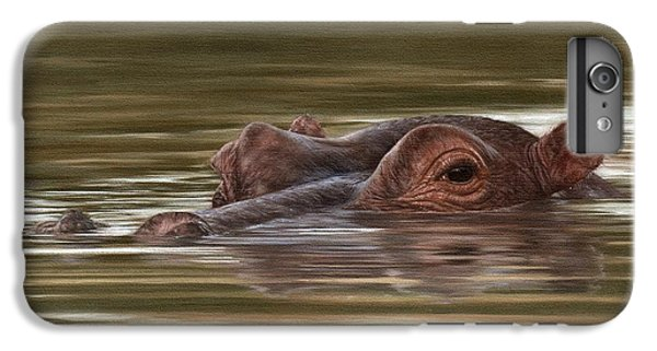 Hippo Painting IPhone 6 Plus Case by Rachel Stribbling