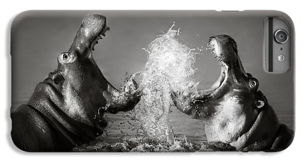 Wildlife iPhone 6 Plus Case - Hippo's Fighting by Johan Swanepoel