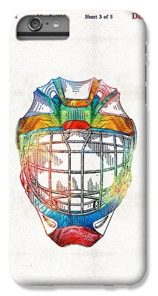 Penguin iPhone 6 Plus Case - Hockey Art - Goalie Mask Patent - Sharon Cummings by Sharon Cummings