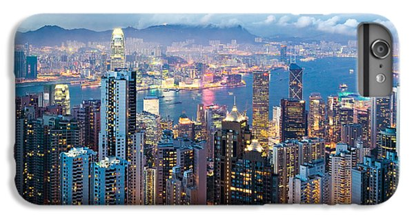 Skylines iPhone 6 Plus Case - Hong Kong At Dusk by Dave Bowman