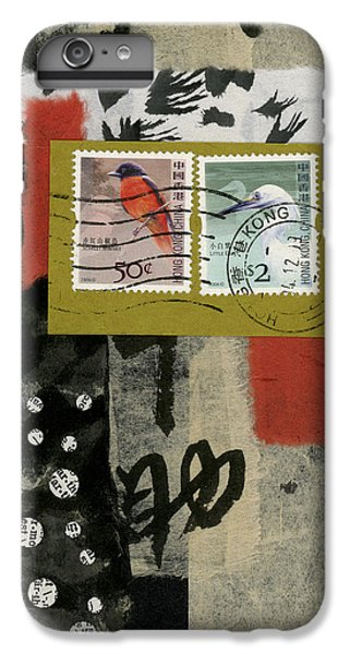 Hong Kong Postage Collage IPhone 6 Plus Case by Carol Leigh