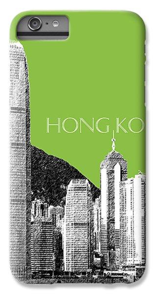 Hong Kong Skyline 1 - Olive IPhone 6 Plus Case