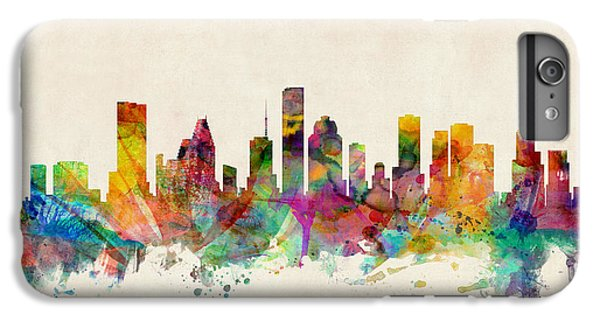 Houston Texas Skyline IPhone 6 Plus Case by Michael Tompsett