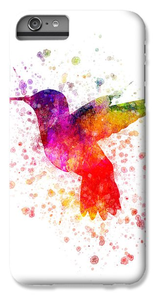 Hummingbird In Color IPhone 6 Plus Case by Aged Pixel