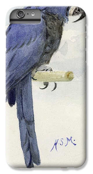 Macaw iPhone 6 Plus Case - Hyacinth Macaw by Henry Stacey Marks