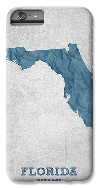 I Love Miami Florida - Blue IPhone 6 Plus Case by Aged Pixel