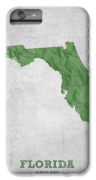 I Love Miami Florida - Green IPhone 6 Plus Case by Aged Pixel
