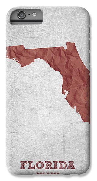 I Love Miami Florida - Red IPhone 6 Plus Case by Aged Pixel