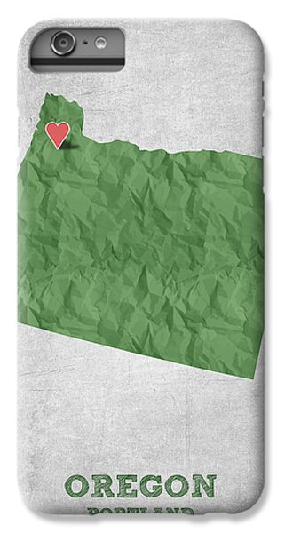 I Love Portland Oregon- Green IPhone 6 Plus Case by Aged Pixel